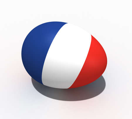 Three-dimensional model easter eggs of the flag of France painted in colors Stock Photo - 7695024
