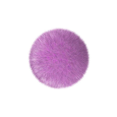 Three-dimensional model - pink fur in the form of a sphere. 写真素材