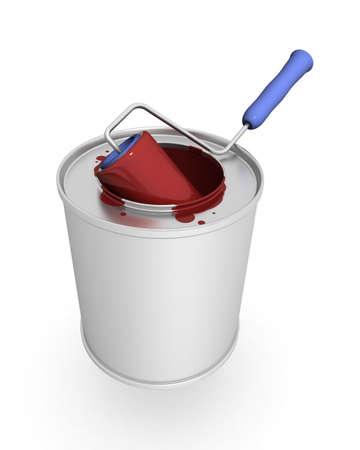 platen: 3-d model bank of a paint
