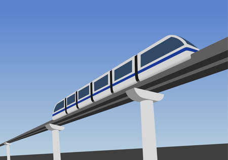 Monorail road above the earth.