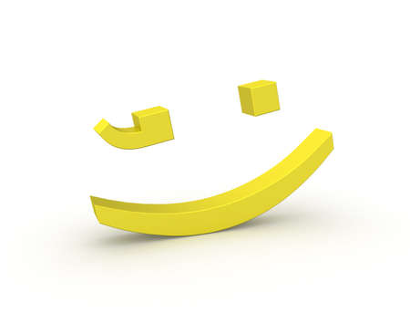 Three-dimensional model of a symbol smile from punctuation marks.