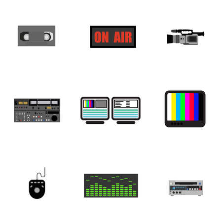 Set of ikons - television production. Stock Photo - 7744344
