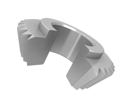 Three-dimensional model bevel gear in the section. photo