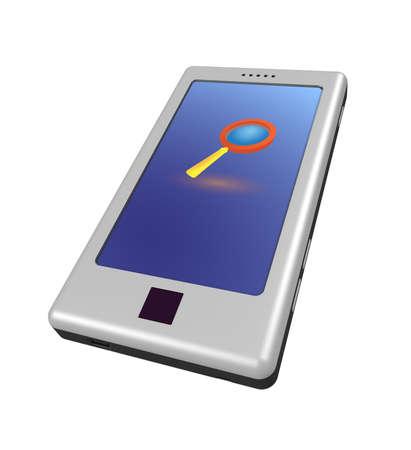 3 차원 모델 - 현대 휴대 전화입니다.