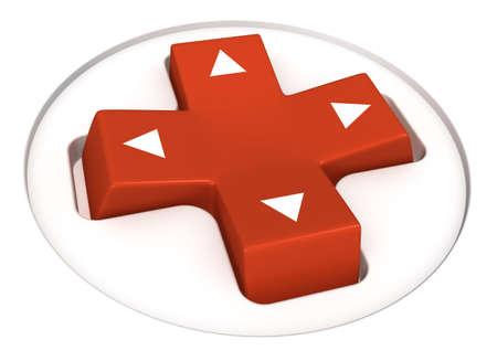 3 차원 이미지 - 비디오 게임 방향 제어 패드