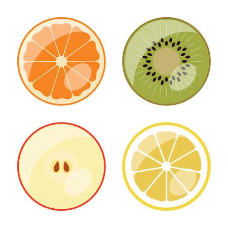 투명 반구 아래 과일 잘라 내기.