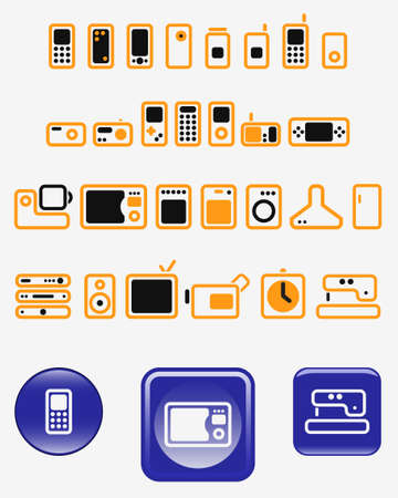 televisor: Schematical simple images of electric devices