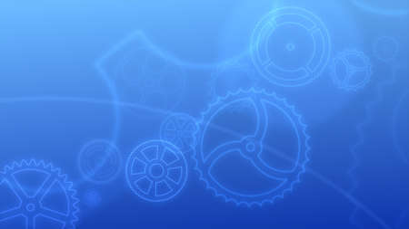 trundle: Abstract background - the set of gears of different types and sizes. Stock Photo