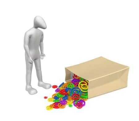 3D 인간의 약자 패키지 근처 의미합니다. 패키지에서 많은 문자 이메일을 흘 렸습니다.