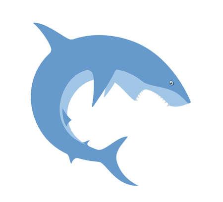 점프하는 상어의 벡터 이미지입니다. 일러스트
