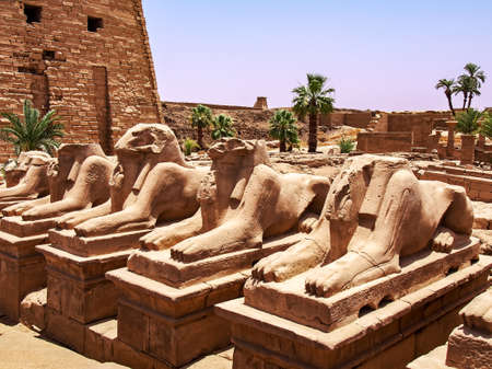 The Karnak Temple Complex in Egypt. Alley Pharaohs