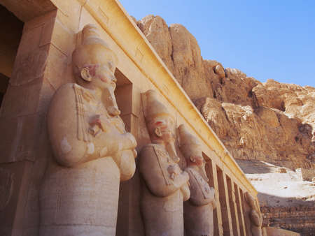 Queen Hatshepsuts Temple in Egypt Stock Photo