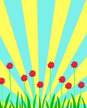 Cute Flowers Garden Background Wallpaper Design Trend