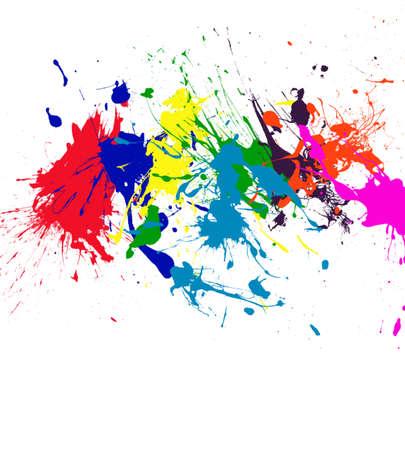 Paint Splatter Rainbow Color Art
