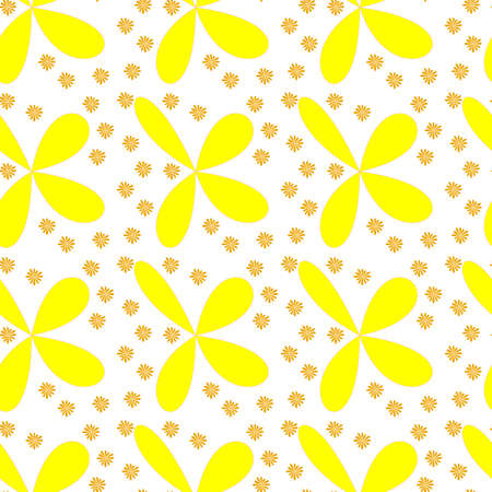 Cute abstrack flowers seamles repeat pattern texture print project wallpaper background design