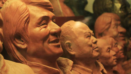 chan: Jackie Chan clay head statues