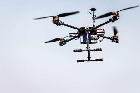 rotor: Four rotor UAV close-up