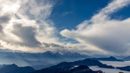 high sierra: Niubei mountain scenic Stock Photo