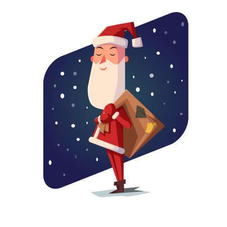 papa noel: Papá Noel divertido ilustración