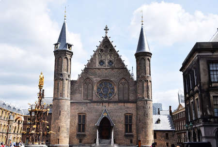 the hague: The Binnenhof in the Hague Stock Photo