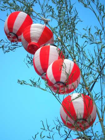 Japanese paper lantern Stock Photo