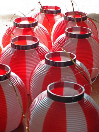 Japanese paper lantern(chochin) Stock Photo