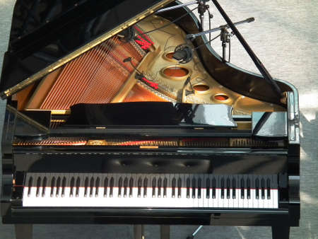 grand piano on a stage photo