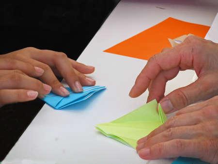 Origami(folding paper) Stock Photo