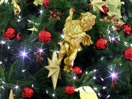 angel in christmas tree