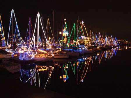 illumination in a yachts Stock Photo
