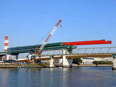 建設中の橋します。 写真素材