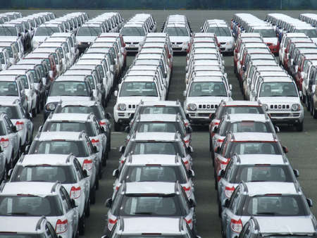export cars in a quay (Toyohashi Japan 2011)