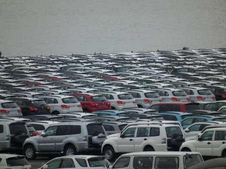 export cars in a quay (Nagoya Japan 2011)
