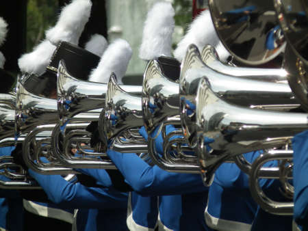 a brass band perfoming in festival