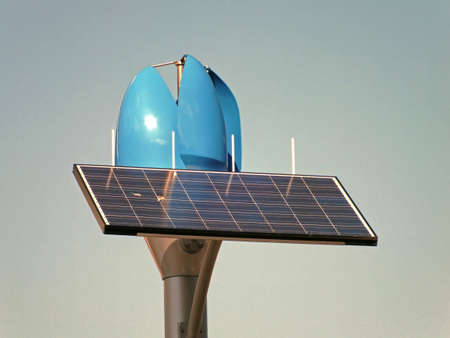 solar panel and wind power generater