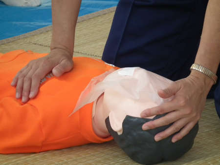 training for lifesaving with AED(Aichi Japan 2011) Editorial