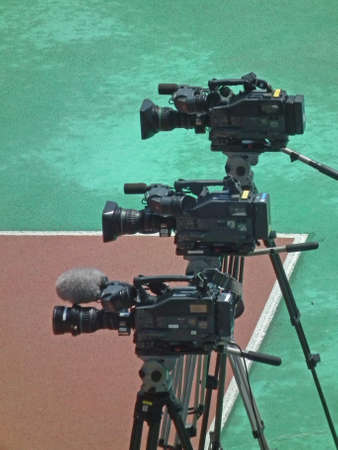 field event: video camera in a track and field event