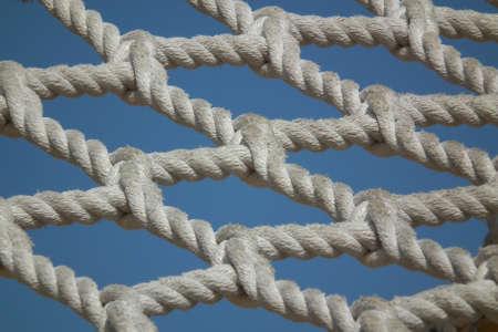 rope of playground Stock Photo