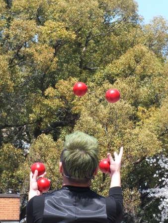 juggling  版權商用圖片
