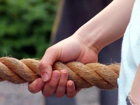 grasping: grasping rope