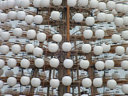Japanese paper lanterns in a festival