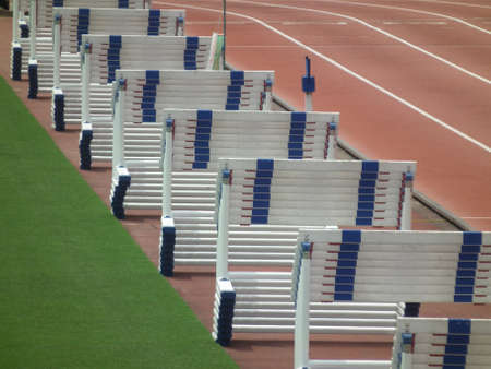 hurdles in a track-and-field events