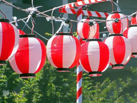 Chochin  Japanese paper lantern Stock Photo