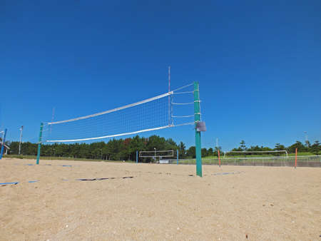 beach volleyball court photo