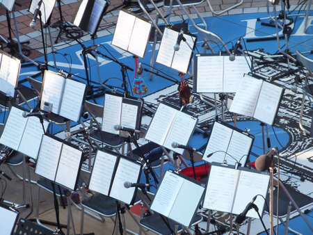 music stands Stock Photo - 17374470