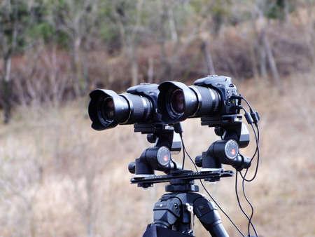 3d: 3D cameras Stock Photo