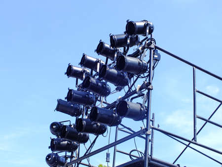 lights above the open-air stage