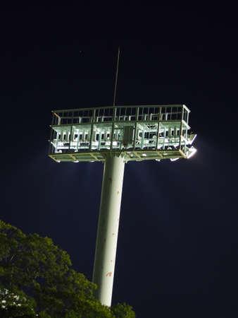 baseball field: Baseball field lighting towers