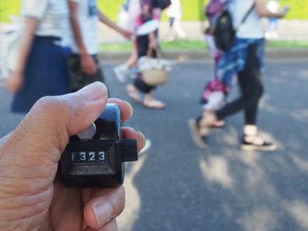 pedestrian: Pedestrian counting Stock Photo