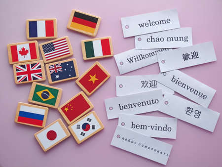 foreign national: Welcome Stock Photo